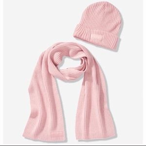 Victoria's Secret pink hat and scarf